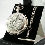 GOLFER Pocket Watch, Quartz, PERSONALISED ref PWQG